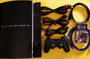 PlayStation 3 Backward Compatible Game Console w/ 3.55 OFW CFW & EZ Chill Cooling Fan Mod (Reconditioned) ULTIMATE PS3 CECHA01 60GB w/ Warranty