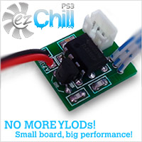 PS3 ezChill Fan Mod Cooling Kit for PS3 - Prevent YLOD Overheating